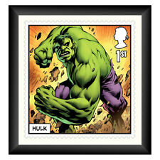 More details for framed royal mail® collectable stamp print marvel the incredible hulk