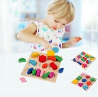 Baby Kids Wooden Educational Puzzle Jigsaw Toy Board Shape Sorter Learning Toys