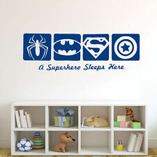 Wall Sticker Spiderman & BATMAN &CAPTAIN AMERICA Super Hero Boy Room Decal Decor