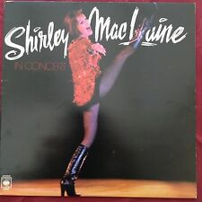 SHIRLEY MACLAINE: LIVE IN CONCERT 1976 CBS LP 86008 sleevenotes by Elton John!!