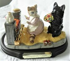 BESWICK WARE ~ BEATRIX POTTER ~ DUCHESS & RIBBY MILLENIUM TABLEAU ~ GOLD EDITION