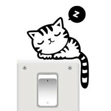 5 Cat New Style Black Cartoon Wall Stickers Wall Paper Decals Switch Stickers