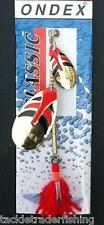 ONDEX CLASSIC FISHING TANDEM SPINNER GOLD/RED/BLACK - PREDATORY FISHING