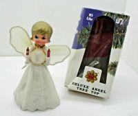 Vintage Noel Jingle Bell Deluxe Angel Tree Top