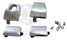 Premium Chrome Latches set fit Harley King Ultra Tour pak, Compare to 53000252