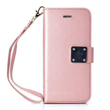 Five Card Slot Leather Magnetic Stand Wallet Case Cover For iPhone X 8 6S 7 Plus
