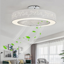 Ceiling Fan With Light Remote Control Led Lamp Flower Dimmable Bedroom Office