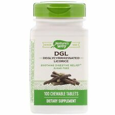 Nature's Way, DGL, Deglycyrrhizinated Licorice, 100 Chew tabs  Enzymatic Therapy