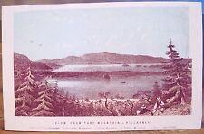 Antique Irish Print VIEW from TORC Mountain Killarney Ireland Engraving 3.5x5.5