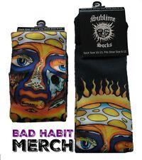 Sublime Band Classic Sun Logo Tube Socks Shoe Size (6-12) 40oz to Freedom Album