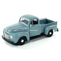 1948 Ford F-1 Pickup Truck Blue Gray 1:25 Diecast Vehicle Maisto 34935