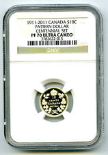 1911-2011 CANADA SILVER PROOF 10 CENT NGC PF70 RCM PATTERN DOLLAR CENTENNIAL SET