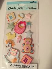 Baby Pink Blue Yellow Blocks Horse Creative Touch Stickers Scrapbooking Crafts
