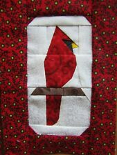 4 Paper Pieced Christmas Cardinal quilt block