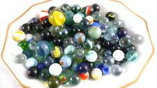 150 Assorted Glass Marbles LOT #1 Mega Swirls Opaque Cat's Eye