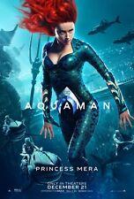 Aquaman Movie Poster (24x36) - Princess Mera, Amber Heard, Jason Momoa v4
