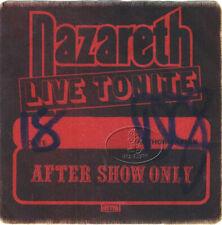 NAZARETH 1980 TOUR BACKSTAGE PASS