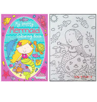 Childrens Kids Girls MY PRETTY MERMAID A4 Colouring Book 70 Pages
