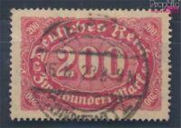 Deutsches Reich 248b geprüft gestempelt 1922 Ziffern Ergänzungs-Werte (8248785