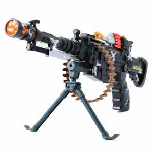 Combat M249 Toy Gun Kids Army Military Rifle Machine Gun Lights Vibration Sound