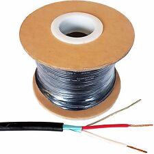 "100m 2 Core Audio Cable apantallado blindado/Reel Micrófono plomo Para Enchufes XLR de 1/4"""