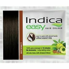 3pc New Indica Easy Hair Color Shampoo Based(Dark Brown)+Free Gift