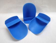 Tupperware 3x große Mehlschaufel Backhelfer blau