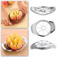 Edelstahl Obst Apfel Easy Cut Slicer Cutter Teiler DIY Werkzeug Silber E9W1