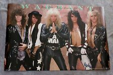 Warrant 1989 Dirty Rotten Filthy Stinking Rich Brockum Glam Metal Poster VG C6