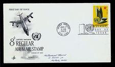 Fdc Un New York #C9 Regular Air Mail 8c Artcraft Addr First Day Cover1963