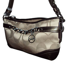 Coach East West Chain Duffle Handbag Purse F19724 Signature Khaki/Bronze NWT