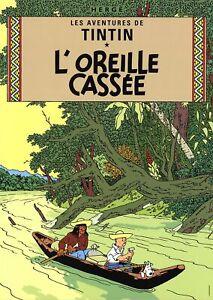 HERGE Les Aventures de Tintin: L'Oreille Cassee 27.5 x 19.5 Poster Contemporary