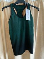 RRP £59 - New Pepper & Mayne Goddess Compression Sports Vest, Green, X-Small