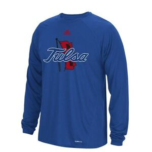 "Tulsa Golden Hurricane NCAA Adidas Men's Sideline ""Spine"" Blue T-Shirt"