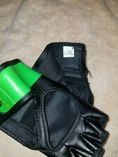 Century Youth Brave Open Palm MMA Training Bag Gloves - Black/Green