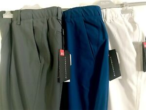 MENS UNDER ARMOUR THREADBORNE PERFORMANCE TAPERED GOLF TROUSERS -WOW NOW 60% OFF