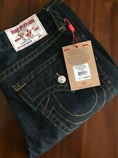 TRUE RELIGION BRAND THE 2S BODY RINSE STRAIGHT FLAP  MEN'S JEANS(W33)$225
