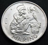 1975 San Marino Silver 500 Lire Ancient Stonecutter high grade coin