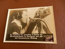 GENUINE WW2 GERMAN PRESS SYNDICATE PHOTOGRAPHS  MARTIME SUBJECT  u boat phone