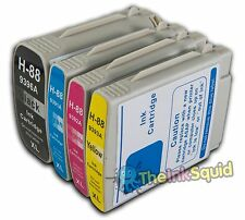 4 HP 88 XL Ink Cartridges for Officejet/Pro L7700 HP88