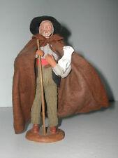 * SANTON DE PROVENCE HOMME BERGER ET SON MOUTON SIGNE ESCOFFIER? HAUTEUR 19 cm