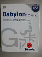 Babylon 2008 Mac box - traduttore simultaneo - SOFTWARE NUOVO