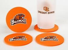 OREGON STATE BEAVERS CoasterSet 4 Football NCAC Licensed Sports LOGO DRINK FAN