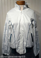 NWT B by Burton Foxy Satin Womens Hideaway Hooded Jacket L Bright White MSRP$120