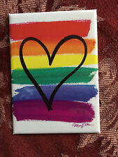 Raindow colors magnet with Heart