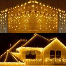 5M Christmas Garland LED Curtain Icicle String Lights Droop 0.4-0.6m Garden