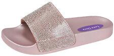 Womens Girls Diamante Sliders Bling Sandals Slip On Flip Flops Slippers Mules