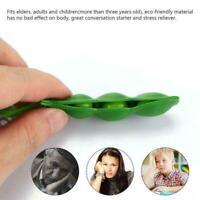 Cute Squishy Peas Pod Keyring Edamame Keychain Kawaii Mochi Hot Bean Fidget T2Z5