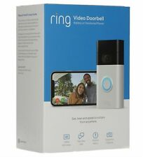 Ring Doorbell (2nd GEN) Satin Nickel Motion-Activated Video NEW SEALED