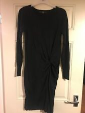 Ladies Next Black Knot Jumper Dress Size 10